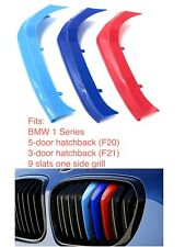 M POWER SPORT LOGO KIDNEY GRILL 3 COLOUR COVER ABS 3 STRIPS BMW 1 SERIES F20 F21
