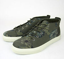 91195c6a4b0 New Authentic Gucci Mens Green Floral Fabric Lace-up Sneaker