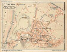 Carta geografica antica CESENA Pianta della città TCI 1916 Old antique map