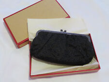 NWT Black Satin BEADED Purse Clutch by EXPRESS in GIFT BOX Formal Dressy Bag