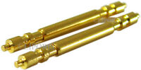 2 Stück hochwertige INOX Federstege Farbe gold auch für RLX Anstoß 20mm Ø1,8mm