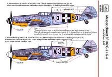 Hungarian Aero Decals 1/48 MESSERSCHMITT Bf-109G-2 & Bf-109G-4 Fighters