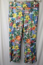 Ivy Jane Sz 4 Floral Hawaiian Surfing Print Cropped Wide Flare Boho Pants