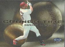 2000 Fleer  Mark McGwire Ultra Crunch Time Cincinnati Reds #3