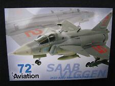 Post Card Aviation 72 Saab Viggen JA37 4/52 Swedish Air Force