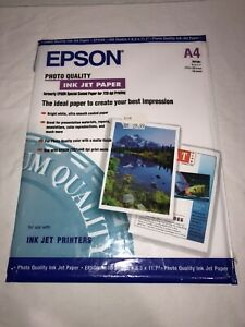 Epson Photo Quality Paper A4 Ink Jet Paper 100 Sheets 210x297