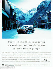 PUBLICITE ADVERTISING 036  1999  Jeep Cherokee 4x4