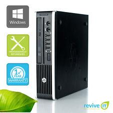 HP Elite 8200 USDT USFF i5-2400S 2.50GHz 4GB 500GB Win 10 Pro 1 Yr Wty