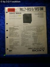 Sony Service Manual HCD H51 / H51M Component System  (#3334)