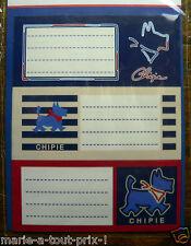 Lot De 9 Etiquettes Scolaires Stickers Chipie Pour Cahiers Livres (lot 3)