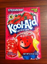 1 Pack Kool Aid STRAWBERRY Flavor Drink Mix Packet Gluten Free FREE SHIP