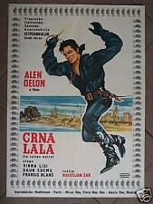 LA TULIPE NOIRE-A.DELON/V.LISI-YUGO MOVIE POSTER 1964