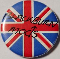 "BLACKBURN MODS Union Jack Old OG Vtg 1980`s Button Pin Badge 25mm-1"" mod"