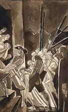 RÉVOLUTION FRANCAISE - ASSASSINÉ - EDY LEGRAND - plume et aquarelle signée 1922