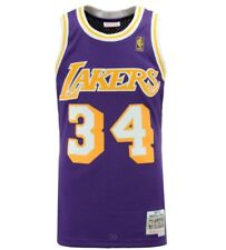 Shaquille Oneal Los Angeles Lakers Mitchell Ness NBA Mesh Swingman Jersey Purple