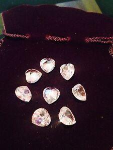 1 Piece - 1 Carat Russian Lab Simulate Diamond HEART CUT Pink 6 mm  WHITE