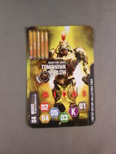 RARE Real Steel MIDAS Tomahawk Blow Robot Game Card Ultimate Challenge 2011