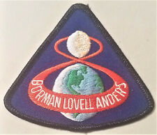 APOLLO 8  Vintage Embroidered  PATCH BORMAN LOVELL, ANDER`S  /  C