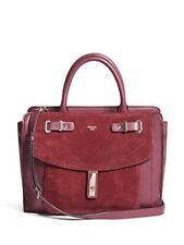 Guess Bordeaux Kingsley Satchel Handbag Faux Leather NEW MSRP $128 New With Tag