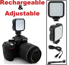 Rechargeable LED Light Kit (Adjustable) for Sony DSLR-A390 DSLR-A200 DSLR-A900