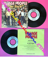 LP 45 7'' VILLAGE PEOPLE Play bach In the street 1982 france BLACK no cd mc dvd