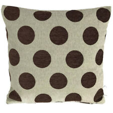 """Brown Dot Cushion Covers SET OF 4 18"""" X 18"""" / 45 x 45 cm Quality Thick Material"""