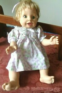 """Vtg 2000 Amazing Babies Talking/Interactive 14"""" Doll Playmates Toys Battery Op"""