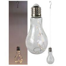 Stimmungslampe Glühbirne Glas H 18,5 cm zum Hängen LED-Lampe LED Lichterkette