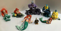 Walt Disney The Little Mermaid Figure Lot Of 9 Pre Owned Flounder Ursula WDW P