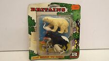 BRITAINS RARE ZOO CARDED SET 5 ANIMALS SET  (BS334)