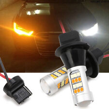 2pc T20 7440 42-LED 2835 50W Dual-Color Switchback LED DRL Turn Signal Light Kit