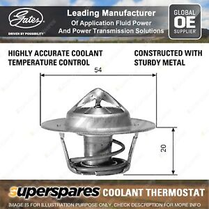 Gates Coolant Thermostat + Gaskets & Seals for Holden H Series HJ HX GMH202 3.3L