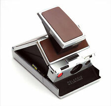 Polaroid SX-70 Replacement skin cover - Laser Cut Genuine Leather – Burgundy