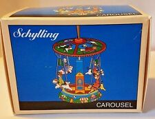 Schylling Christmas Ornament Minature Tin Toy Carousel Merry-go-round