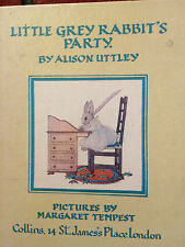 Little Grey Rabbit's Party by Alison Uttley vintage style illustration classic