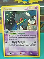 "Banette  1/100 ""Stamped"" ( Ex Crystal Guardians ) Holo Pokemon Card Light Play"