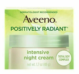 Aveeno Positively Radiant Intensive Moisturizing Night Cream w/ Total Soy 1.7oz