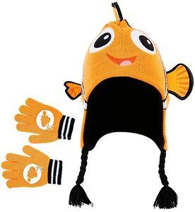 Child Disney Nemo Knit Peruvian Hat and Glove Set