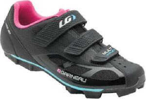 New Without Box $100 Louis Garneau  Multi Air Flex Bike Shoes Black  Women's 8