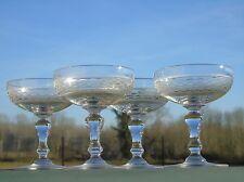 Saint Louis - Lot de 4 coupes à champagne en cristal, modèle Mimosa