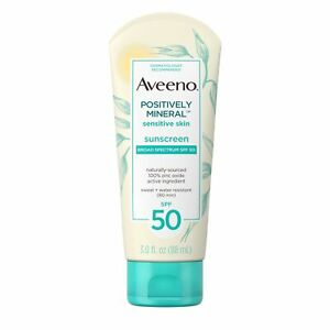 Aveeno Baby Positively Mineral Sunscreen SPF 50 3 FL. OZ EXP 03/22