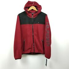Tommy Hilfiger Mens Fleece Hoodie Jacket Small S Red...