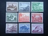 Germany Nazi 1939 Stamps MNH Winter relief Buildings Castle WWII Third Reich Ger
