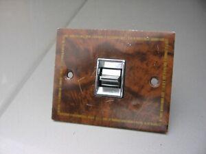 78-88 Olds Cutlass Right Passenger Power Window Switch Trim Plate Wood Bezel OEM