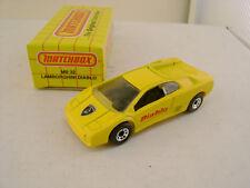 1991 MATCHBOX SUPERFAST MB 22 YELLOW LAMBORGHINI DIABLO NEW IN BOX