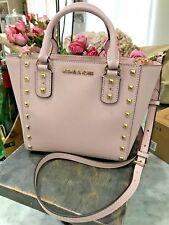 Michael Kors Sandrine Stud Mini Top Zip Tote / Crossbody Bag in Blossom Msrp 288