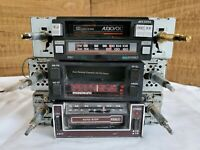 Vintage am fm cassette car radios (lot of 3)