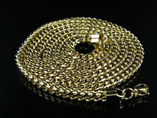 """Mens Yellow Gold Finish Stainless Steel Franco Cuban Box Link Chain Necklace 24"""""""