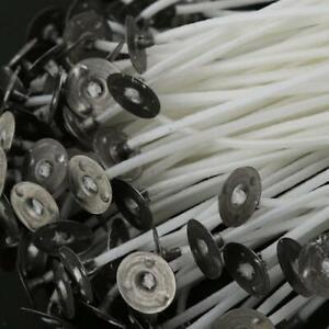 100 Stück Kerze Dochte Low Smoke vorgewachst Wick mit Stütze Baumwolle Kern