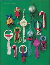 Hanging Macrame Christmas Tree Ornaments Patterns Macrame Holiday Ii Book Mm321